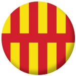 Northumberland County Flag 58mm Button Badge